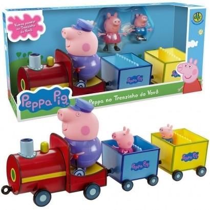 Peppa Pig e George Trenzinho Do Vovô Pig com Vagões DTC 4857
