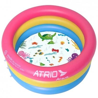 Piscina Inflavel Criança Bebe 88 Litros de Água 76cm de profundidade - Atrio