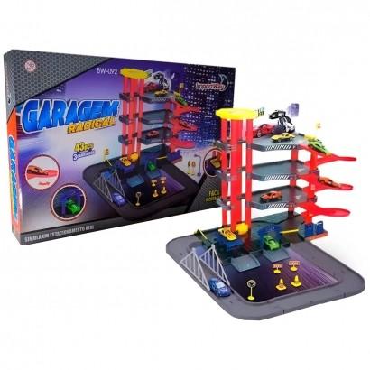 Pista de Carrinho Brinquedo Infantil Criança Estacionamento Com 3 Carrinhos Importway