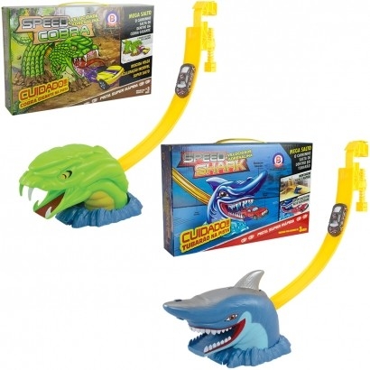 Pista de Carrinhos Infantil Speed Shark and Snake Para +3 Anos - Polibrinq