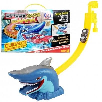 Pista de Carrinho Com Tubarão Brinquedo Speed Cobra E Speed Shark