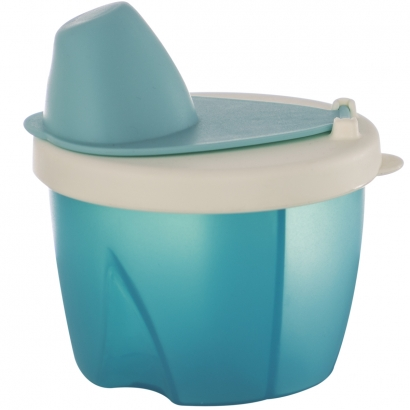 Pote Dosador para Leite em Pó com 3 Divisórias Livre de BPA Azul - Kababy