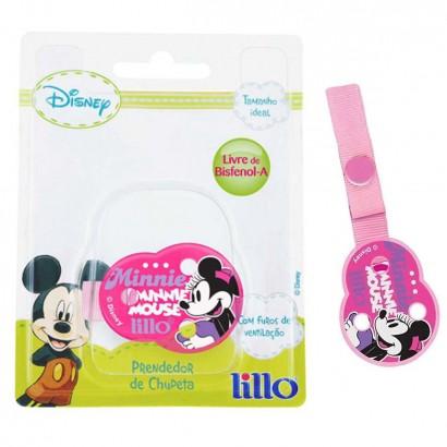 Prendedor De Chupeta Para Bebê  Disney Minnie Lillo