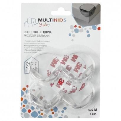 Protetor para Quina de Mesa Redondo Tamanho M 4 peças Multikids BB251