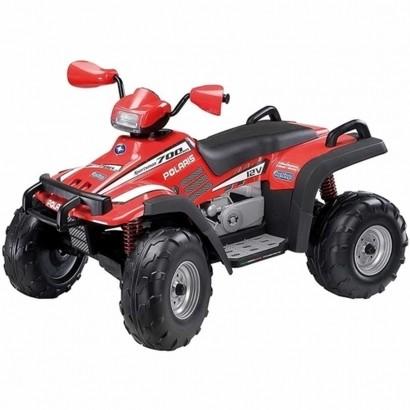 Quadriciclo Elétrico Infantil Dois Lugares 3 Marchas 12V Brinquedo Criança Até 50Kg Polaris Sportsman 700 Twin-New Vermelho