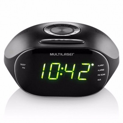 Rádio Relógio Multilaser SP202