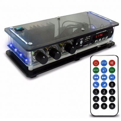 Amplificador Receiver Som Ambiente ORION Slim Xtr 1002BT RCA 2 Canais
