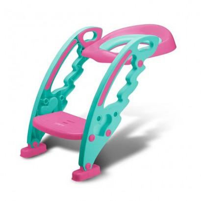 Redutor De Assento Com Escada Rosa Multikids Baby BB052