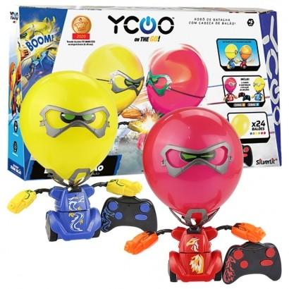 Robô Kombat Boom Balão Infantil com Efeitos Sonoros e Socos Potente +5 Anos - Dtc