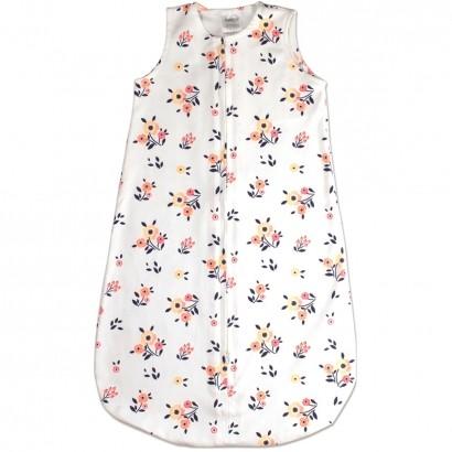 Saco para Bebê Dormir De 0 até 6 Meses 100% Algodão Sleeping Bag Ramos de Flores - Comtac Kids