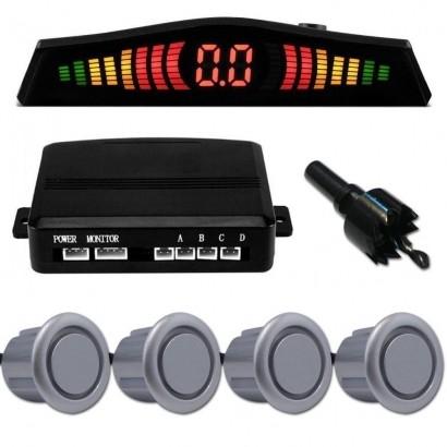 Sensor de Estacionamento 4 Pontos Prata