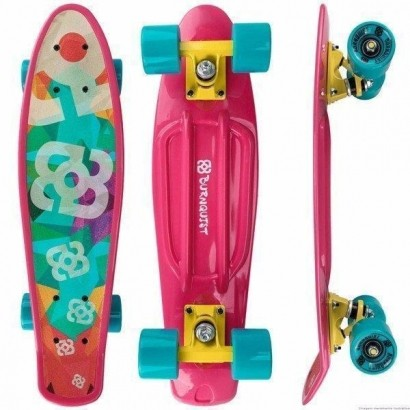 Skate Mini Cruiser Atrio Multilaser Bob Burnquist Rosa Es092