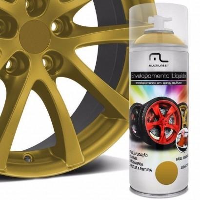 Spray de Envelopamento Liquído Dourado 400ml Multilaser AU422