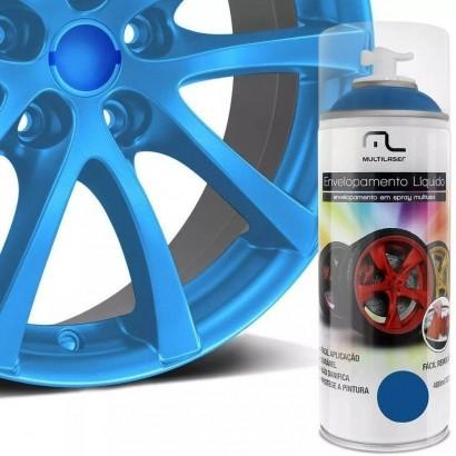 Spray Envelopamento Líquido400ml Azul Fluorecente Multilaser
