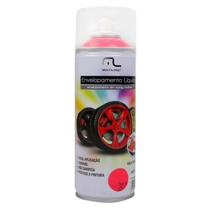 Spray Envelopamento Liquido Vermelho Fluorescente 400ML Multilaser AU424