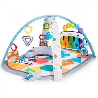 Tapete de Atividades Bebê Com Piano 70 Sons Em 3 Idiomas 7 Brinquedos 4 Modos de Atividade 4 In 1 Kickin Tunes Baby Einstein