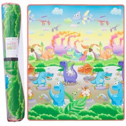 Tapete de Atividades Bebê Infantil Criança Dupla Face 150x180cm Dinossauros - Comtac Kids