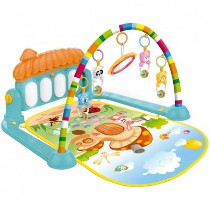 Tapete Infantil Interativo com Piano Musical e Mobile de Atividades A Partir de +2 Meses - Brinqway