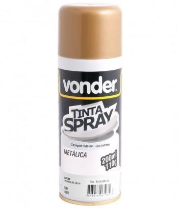 Tinta Em Spray Multi Uso Tinta Dourada Brilhante Ouro 200 Ml Vonder