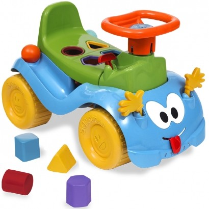 Totokinha Infantil Criança Carrinho Passeio Quadriciclo Modelo Bolinha Para Menino Marca Cardoso Toys
