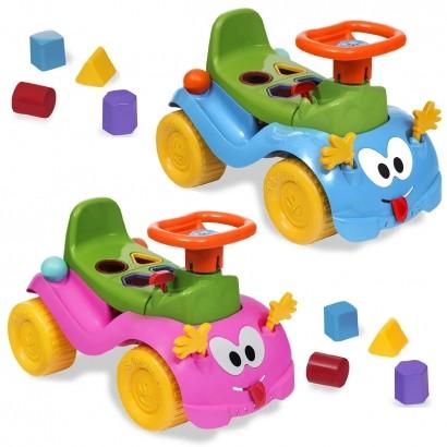 Totokinha Infantil Criança Carrinho Passeio Quadriciclo Modelo Bolinha Para Menina Menino Marca Cardoso Toys Varias Cores