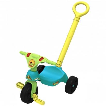 Triciclo Infantil Criança 12 Meses a 23 Kg Com Empurrador Croco Racer Xalingo