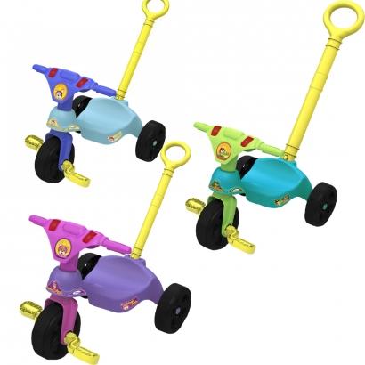 Triciclo Infantil Criança 12 Meses a 23 Kg Com Empurrador Racer Xalingo