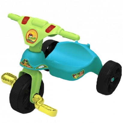 Triciclo Infantil Criança 12 Meses a 23 Kg Sem Empurrador Croco Racer Xalingo