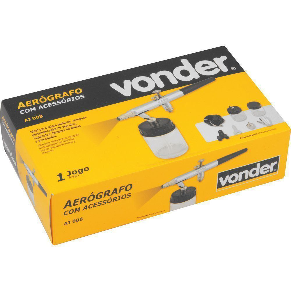Aerógrafo Para Pintura com Acessórios AJ008 Vonder