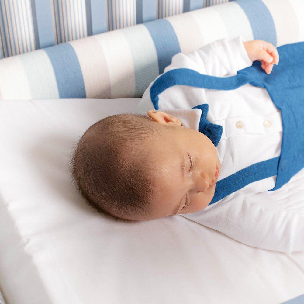 Almofada Anti Refluxo Branca Infanti Para Bebês