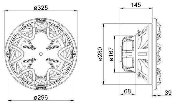 Auto Falante Subwoofer Bravox 12 Bk12 D4 350w Rms 4+4 Ohms