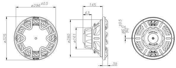 Subwoofer Bravox Premiun P12X D4 220W RMS