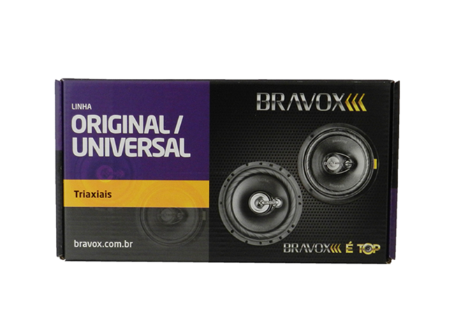 Par de Alto Falante Bravox TR6 U Triaxial Alto Falante de 6 Polegadas 120w Rms