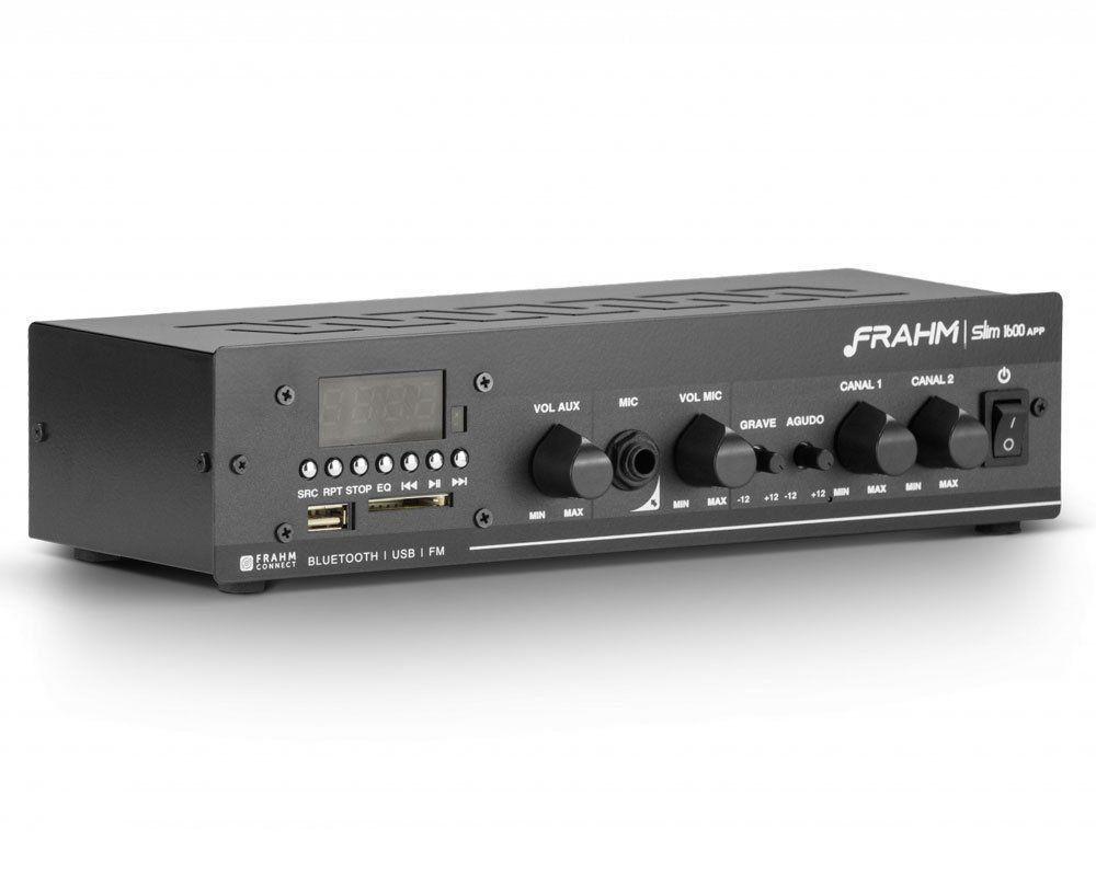 Amplificador Receiver Para Som Ambiente Slim 1600 APP Frahm