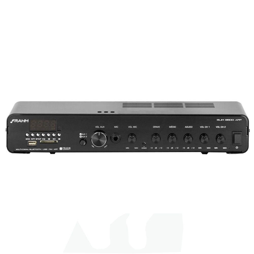 Amplificador Receiver Para Som Ambiente Slim 3500 APP G2 Frahm
