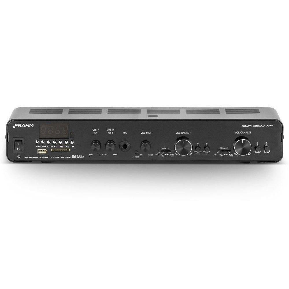 Amplificador Receiver Slim 2500 APP G2 + 6 PS200 NEW Branca