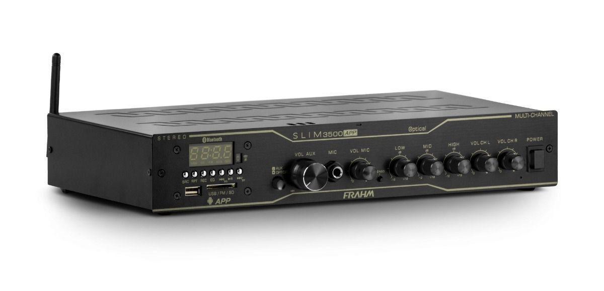 Amplificador Receiver Som Ambiente Frahm Slim 3500 Óptical