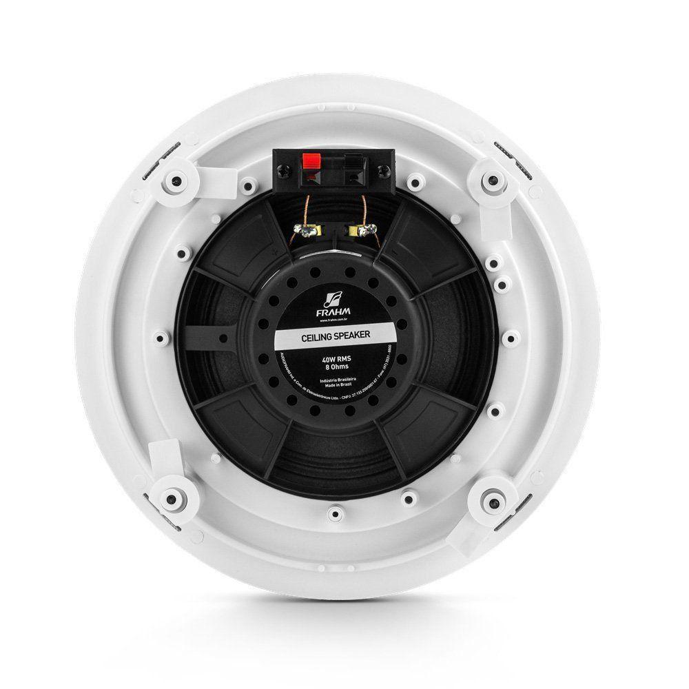 """Arandela Redonda 6"""" Full Range Embutir Borderless 40W RMS Som Ambiente Frahm"""