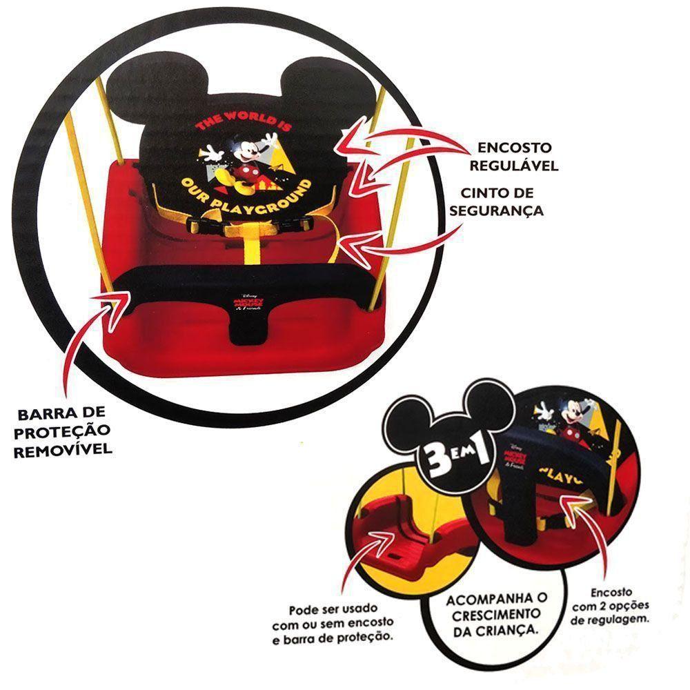 Balanço Infantil Mickey 3 em 1 Disney 19798