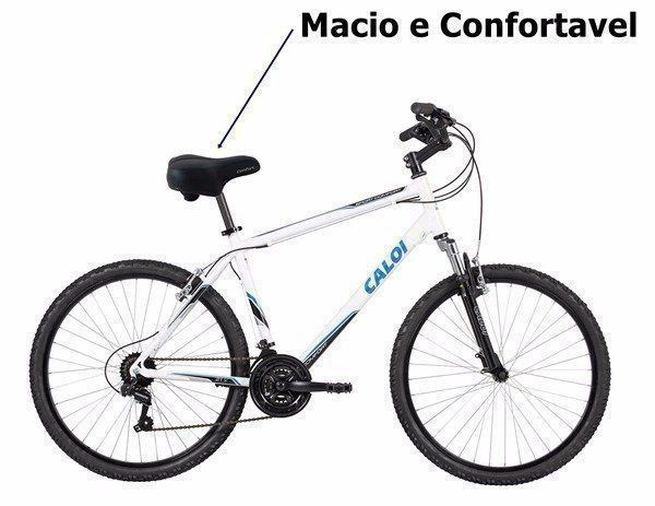 Banco Para Bicicleta Macio Atrio Selim Comfort Couro Bi071