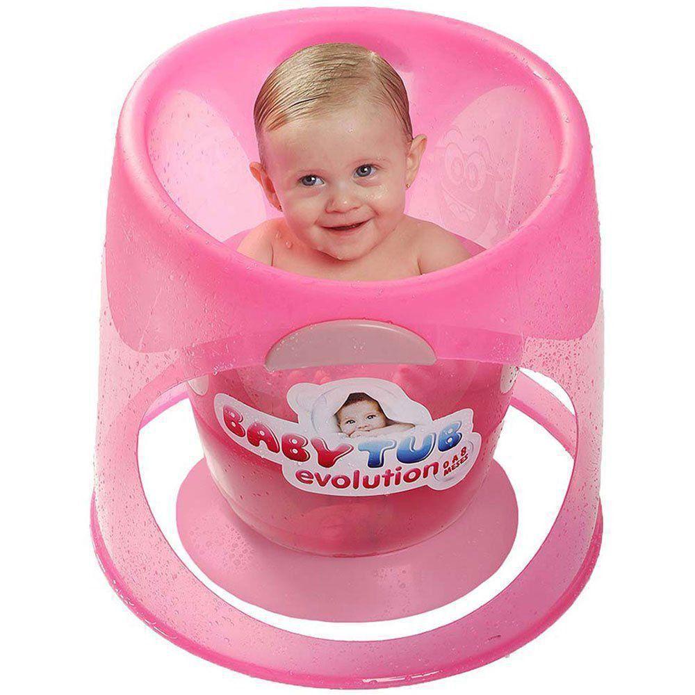 Banheira BabyTub Ofurô Evolution Rosa BBT153 de 0 até 8 Meses