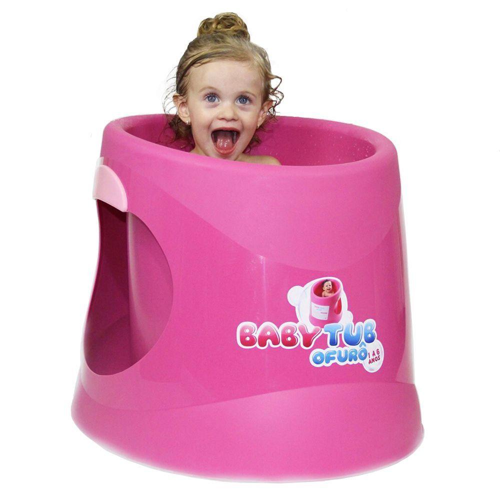 Banheira BabyTub Ofurô Rosa BBT052 de 1 até 6 Anos