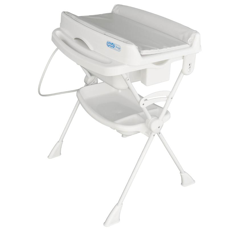 Banheira Banho Bebê Com Suporte Trocador e Redutor Splash Branca - Burigotto
