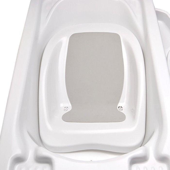 Banheira Bebe Plastica Branca Com Suporte Redutor Saboneteira
