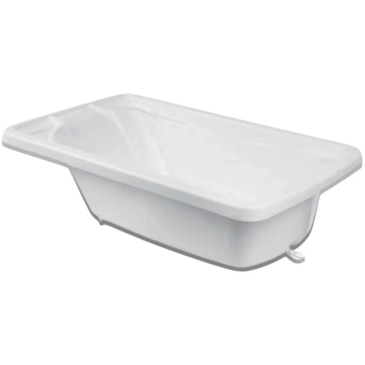 Banheira Bebe Plástica Rigida Branca Burigotto Sem Suporte