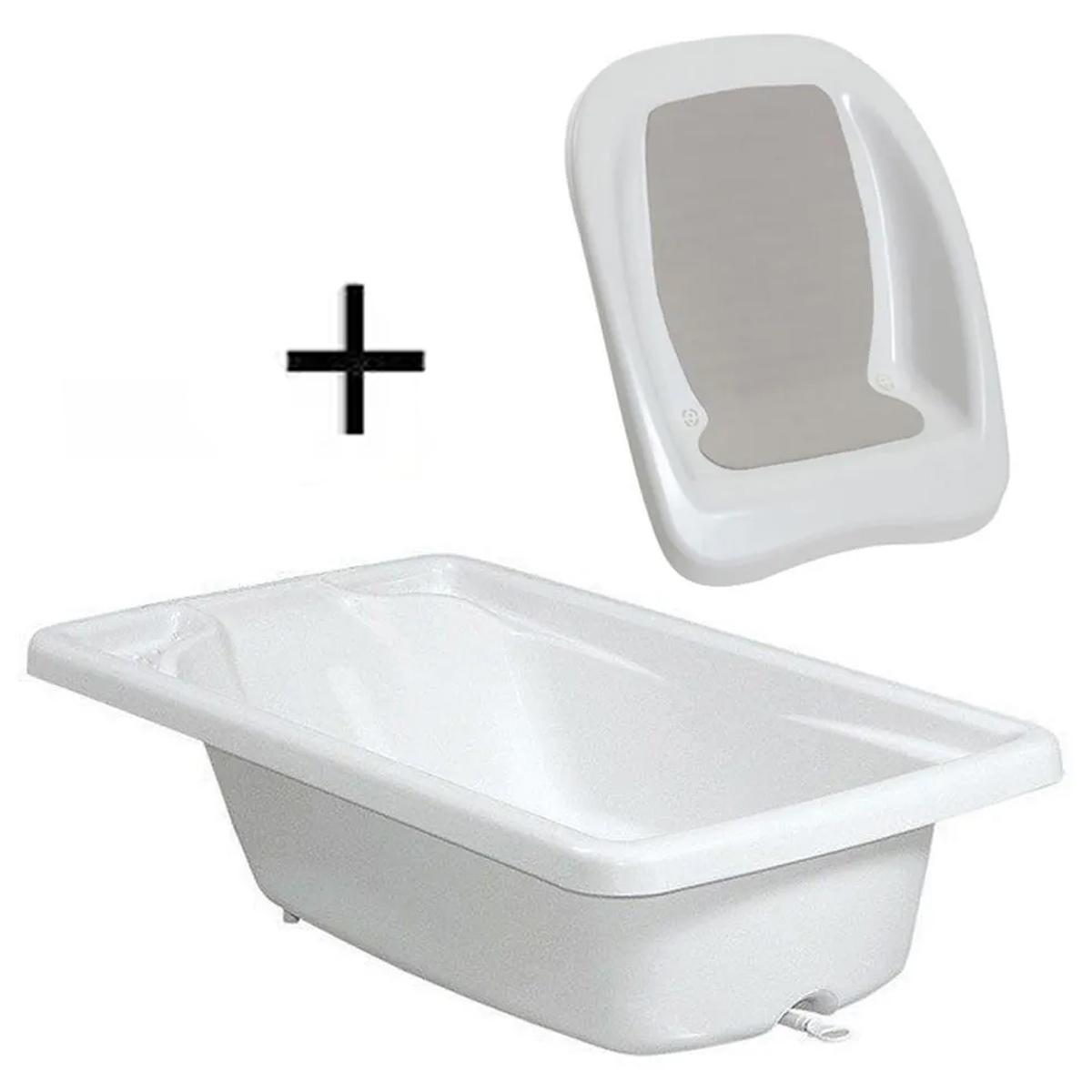 Banheira Branca Rigída Galzerano + Redutor de Assento