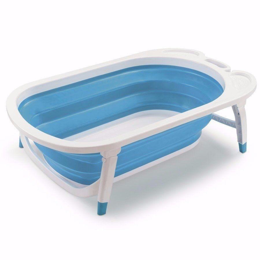 Banheira Dobravel Para Bebê Azul Flexi Bath Menino Bb172