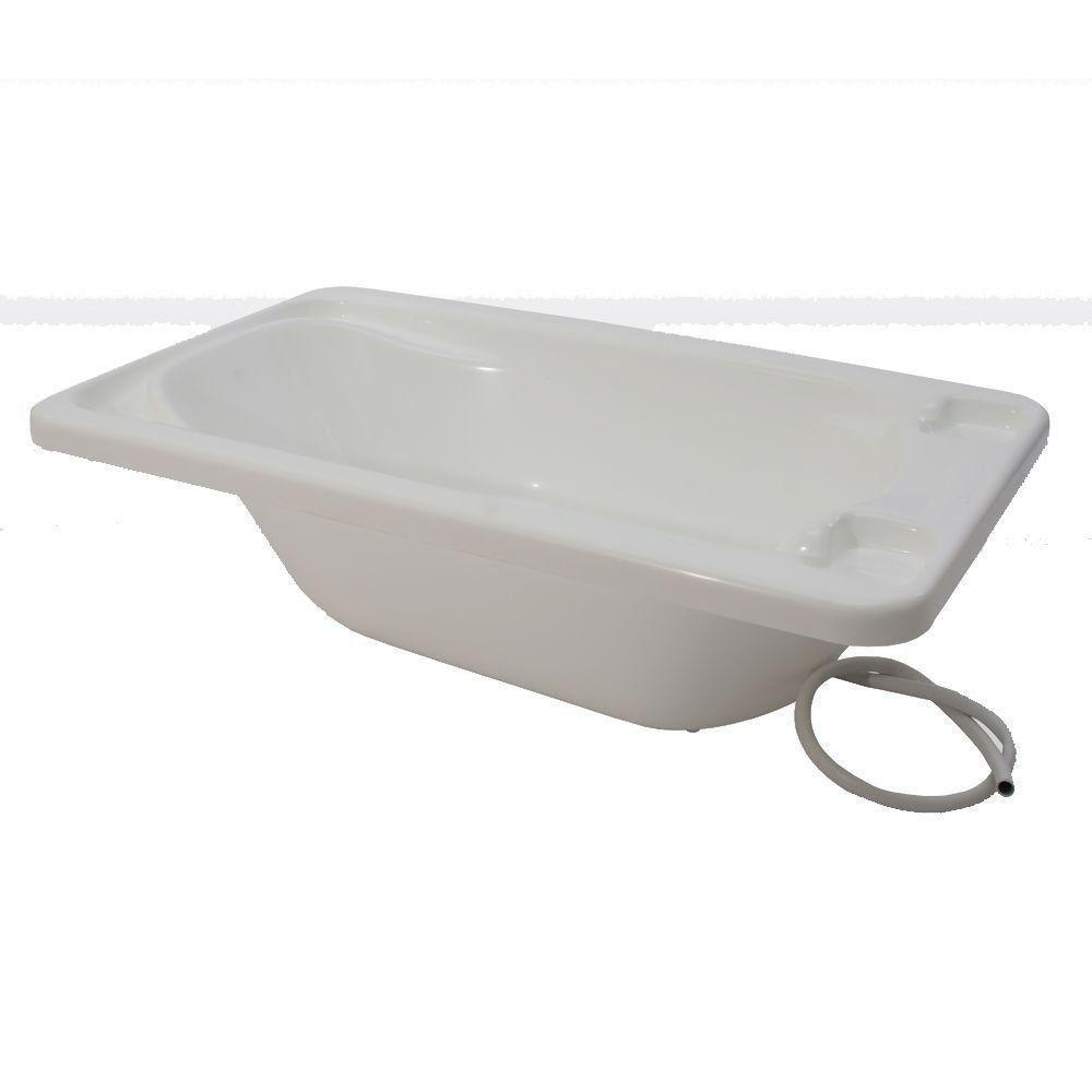 Banheira Para Bebe Plastica Branco Suporte Galzerano