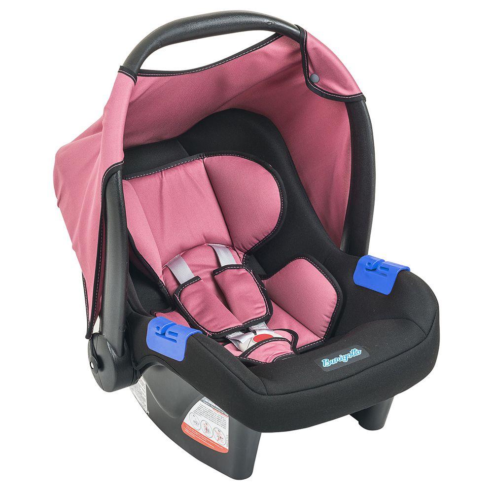 Bebê Conforto Burigotto Touring Evolution SE Preto e Rosa IXAU3044PR05