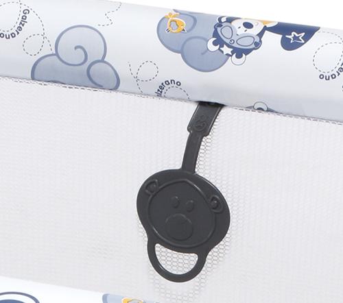 Berço Cercado Com Tela Para Bebê Galzerano Aviador Até 13kg 3005AV